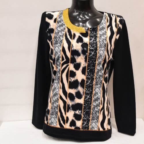 Black & Gold Top (Size 12 Only)
