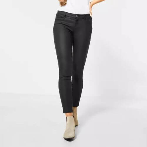 Slim Fit Trousers In Stretch Fabric (Size 16 Only)