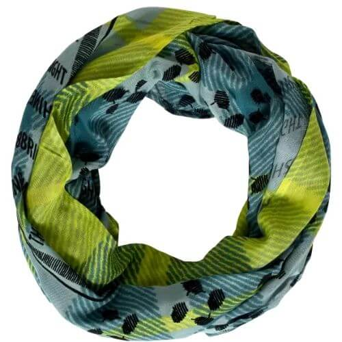 Patchwork And Foil Print Loop Scarf