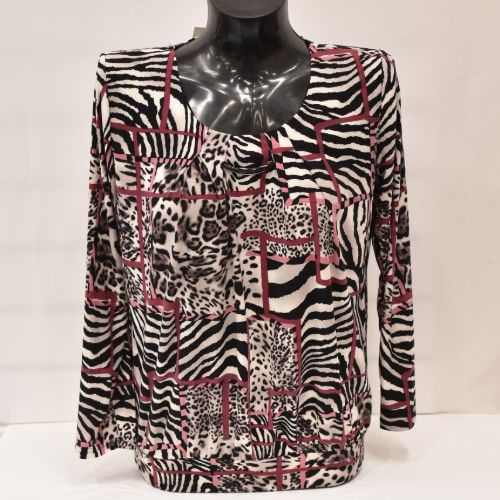 Print Top With Stretch Band.
