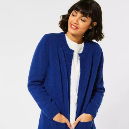 Cobalt Blue Chunky Knit Cardigan