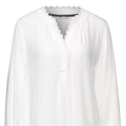V-neck Blouse With Lace Trim