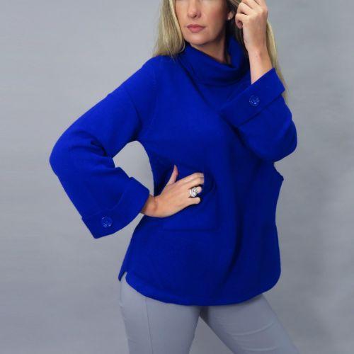 Royal Blue Polo With Pockets