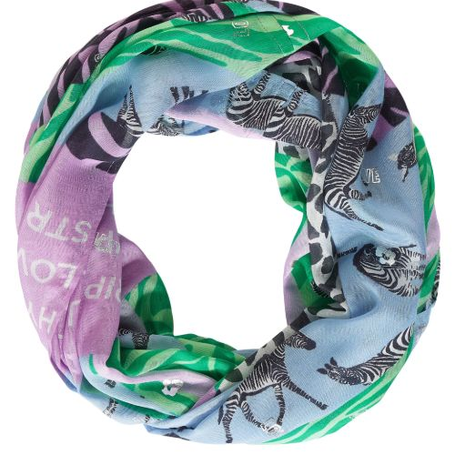 Patchwork And Foil Print Scarf
