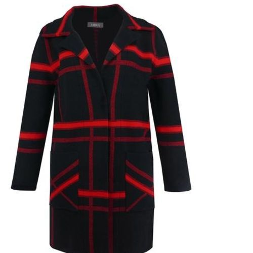 Edge To Edge Black & Red Jacket