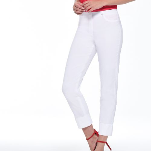 Bella 7/8 Length Trousers With Turnup