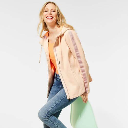 Mandarin Melange Jacket