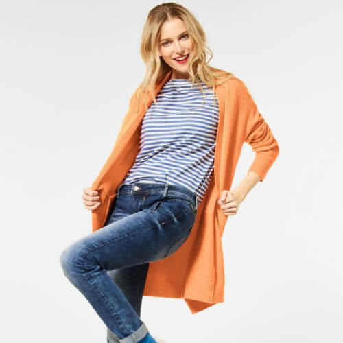 Mandarin Long Knit Cardigan