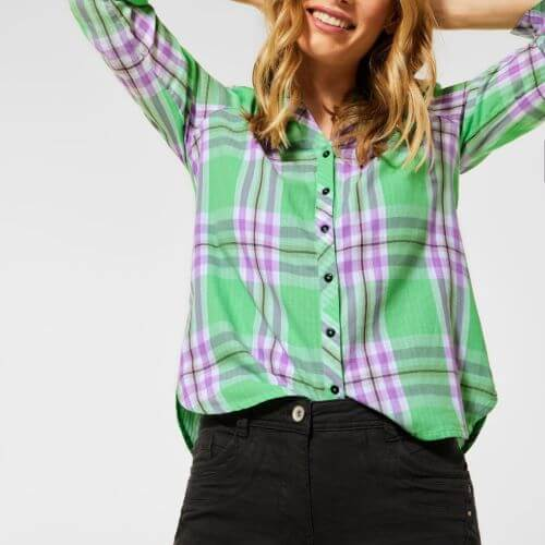 Spearmint & Plaid Pattern Shirt