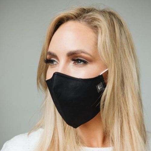 Plain Black Adult Mask
