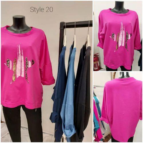 Sweatshirt With Star Design
