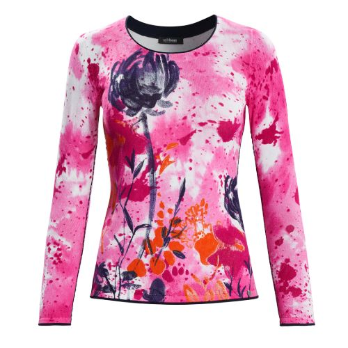 Pink Print Sweater