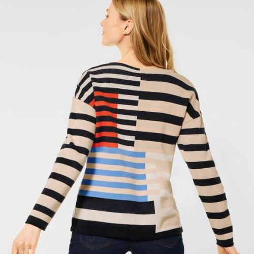 Striped Artwork Sweater