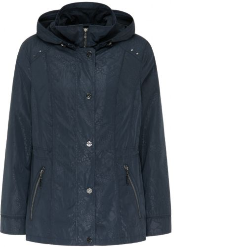 Navy Jacket With Detachable Hood
