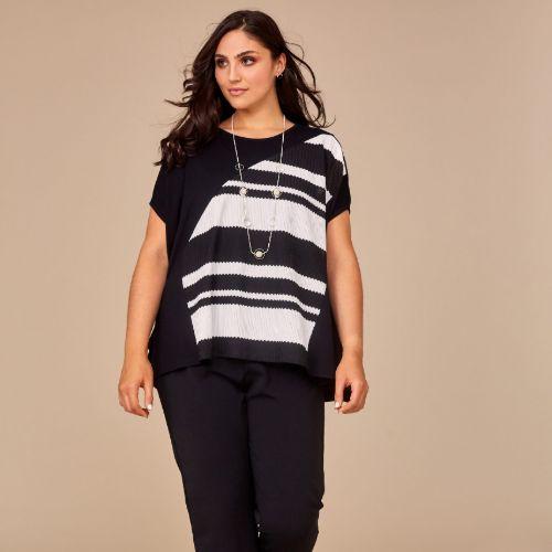 Black & White Stripe Top