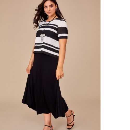 Dress With Stripe Overtop