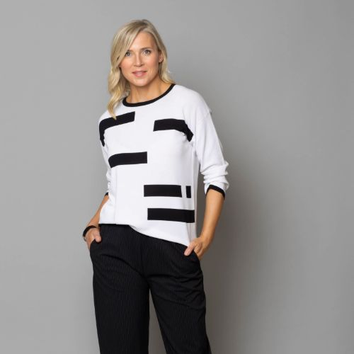 Broken Stripe Knit Jumper