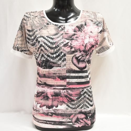 Pink & Beige Libra Top