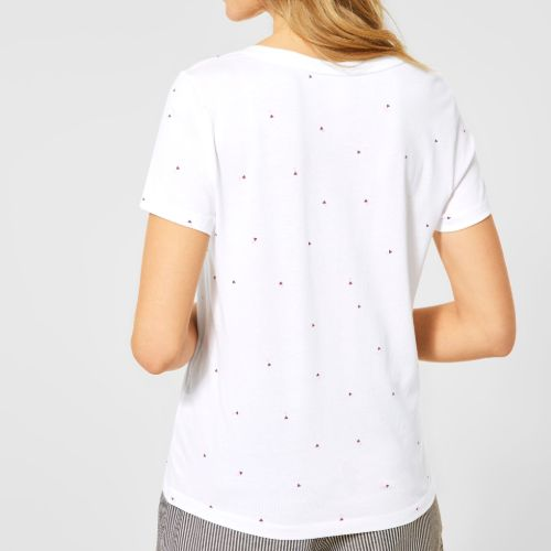 Foil Print White T-shirt
