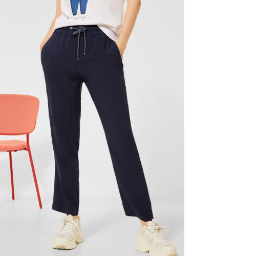 Navy Loose Fit Trousers 26″ Leg
