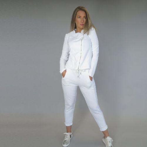 White Jersey Jacket
