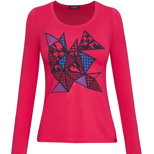 Gollehaug Long Sleeve Top With Pattern Detail