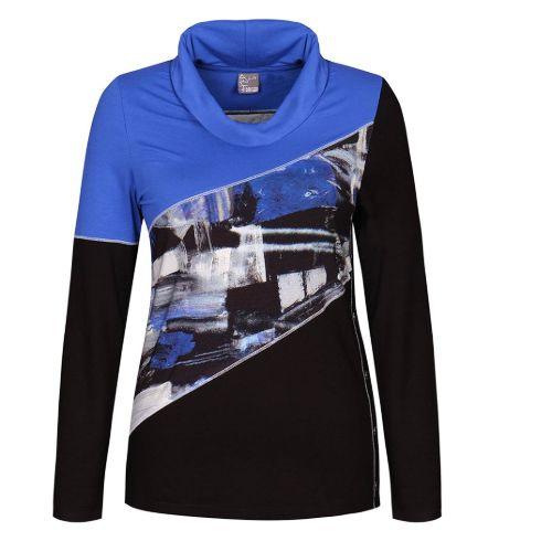 Royal Blue & Black Print Top