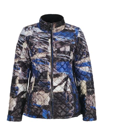 Dolcezza Royal Blue Print Jacket