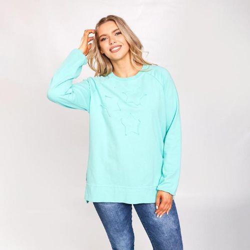 Mint Split Hem Sweatshirt