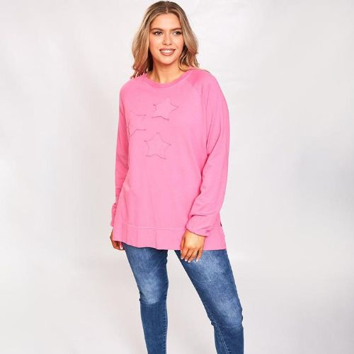 Pink Split Hem Sweatshirt