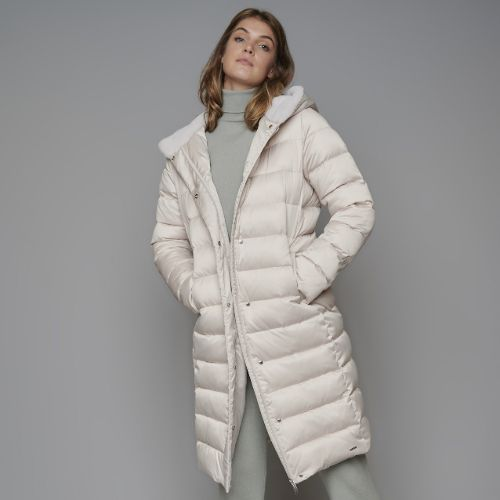Rino Pelle Quilted Coat With Fur Hood