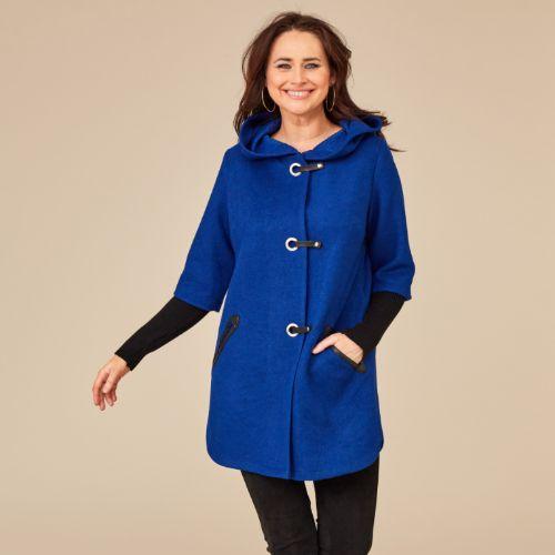 Wool Coat With Eyelet Closing