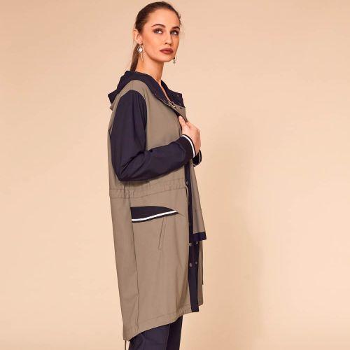 Naya Long Coat With Sporty Trim