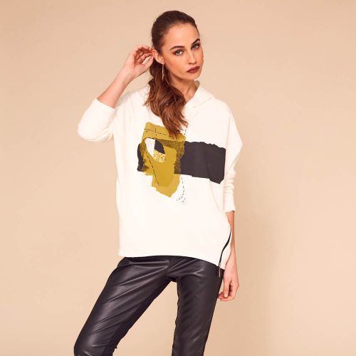 Naya Hooded Sweat Top With Graphic Print