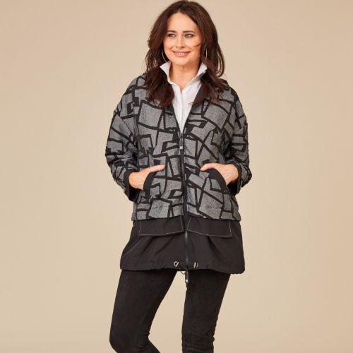 ORA Drawstring Jaquard Jacket