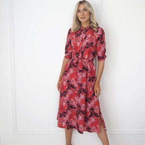 Kate & Pippa Red/fuchsia Print Dress